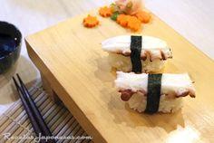 La mejor web de Recetas Japonesas en español. Cocina nipona con fotos y videos demostrativos. Glosario de ingredientes japoneses. Comentarios. Nigiri Sushi, Sashimi, Tapas, Butcher Block Cutting Board, Food, Videos, World, Rice Vinegar, Savory Snacks