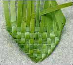 weaving a flax flower step 8