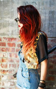 red ombre hair #1