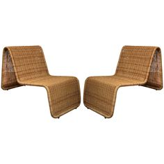 Pair of Tito Agnoli Wicker Chairs   From a unique collection of antique and modern chairs at http://www.1stdibs.com/furniture/seating/chairs/