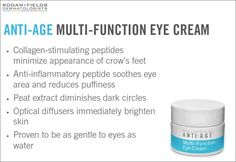 My absolute favorite eye cream! Triple threat: wrinkles, dark circles and puffiness goodbye!  Http://lromano.myrandf.com