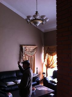 Captain Shrestha, living room. View from dining room steps.