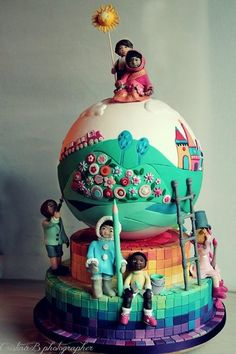 Cake For Children - by LaBelleAurore @ CakesDecor.com - cake decorating website
