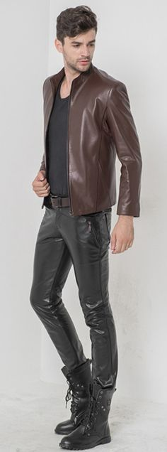 Leather head to toe