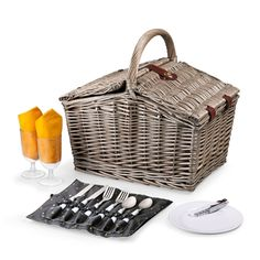 Piccadilly #Picnic Basket.  The Piccadilly - Anthology Picnic Basket is reminiscent of simpler times, when picnics were grand affairs and life's pace afforded you the time to enjoy them to the fullest.
