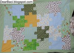 Jigsaw Puzzle Quilts by DearBaci.blogspot.com