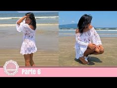Beach Exit in Crochê Linda e Fácil (re-recording) Beach Crochet, Diy Crochet, Crochet Bikini, Crochet Videos, Crochet Clothes, Clothing Patterns, Youtube, Crochet Patterns, Cover Up