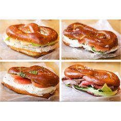 Soft pretzel sandwich...might be my favorite thing about Switzerland!