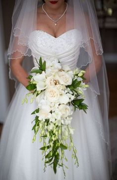 54 Cascade Wedding Bouquets For Charming Brides- Cascade wed.- 54 Cascade Wedding Bouquets For Charming Brides- Cascade wedding bouquets, spring wedding bouquet, greenery wedding bouquet - - Bouquet En Cascade, Cascading Wedding Bouquets, Spring Wedding Flowers, Wedding Flower Arrangements, Bride Bouquets, Bridal Flowers, Flower Bouquets, Boquette Wedding, Wedding Flower Guide