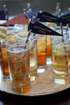 cute drink pennants by Events in the City