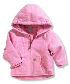 Look what I found on #zulily! Pink Redwood Sherpa Hooded Jacket - Infant & Toddler by Carhartt #zulilyfinds