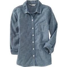 Old Navy Womens Chambray Shirts