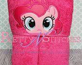Pink pony Peeker Applique embroidery design (5X7 Hoop)