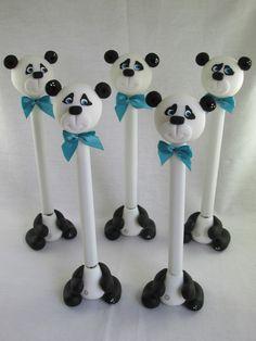 caneta-urso-panda-em-biscuit-ursinho