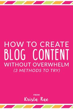 Creating content ideas is just half the battle. Here are 3 ways to create blog…