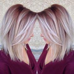 Cheveux Mi-longs : 17 Modèles de Mèches, ombré Hair eT Colorations Unies Pour Vous Inspirer   Coiffure simple et facile