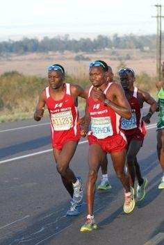 My friend and colleague, Collen and Stephen Muzhingi - towards the end of the race friendship is forgotten :) Marathons, My Friend, Friendship, Racing, Running, Auto Racing, Marathon