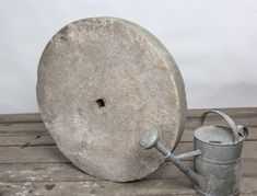 Antique millstone carved from Yorkstone  Imported from Yorkshire,England. To learn more about the history of antique millstones please visit our blog. Garden Ornaments For Sale, Yorkshire England, New England, Interior Decorating, Carving, History, Stone, Antiques, Blog