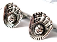 Baseball Glove Cufflinks Pair On Sale Now Gift Box by Mancornas, $19.95