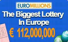€ 112 EuroMillions Jackpot its now! -