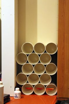 Would be Great for a kids room! Could put more than one pair of their shoes in just one pipe.