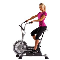 This #exercise #bike is a great deal for the price. Compact, it is ideal for smaller spaces and great #workouts. Lightweight, it can be moved for storage when not in use. The transport wheels make this easy to move and adjust. The fan in the wheel is custom built to create airflow to cool the body during workout and provide additional comfort. It tracks time, speed, calories and fat burned. You will love the simple and easy use of this #bike.