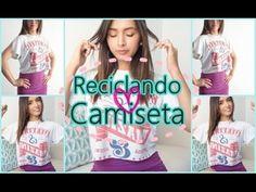 DIY: RECICLA TU CAMISETA VIEJA + OUTFIT 2015 by Gelo Gabry - YouTube
