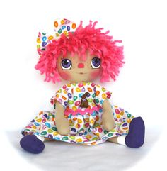 Primitive Raggedy Ann Doll Easter Eggs Bunny by cottoncandydolls, $35.00
