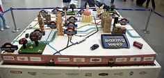 Tube Map made from Cake  http://www.roehampton-online.com/About%20Us/Roehampton%20London.aspx?4231900