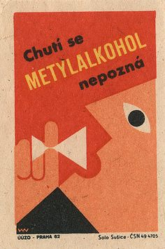 czechoslovakian matchbox label