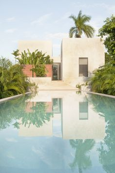 """BBC Boracay says: """" This not the standart way vacation houses are build on Boracay today. We love native materials like bamboo , nipa, cogon etc. We love the influence in style from Greece , Italy and here from Morocco. Look at the reflection of the tropical plants in the pool..."""" #architecture"""