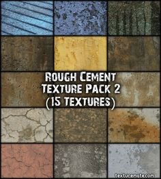 Free Texture Pack for Commercial Use - Rough Cement 2 Adobe Photoshop, Cement Texture, 3d Studio, Digital Backgrounds, Texture Packs, Article Design, Design Elements, Overlays, Packing