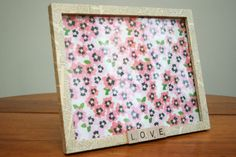 Love Book Page Picture Frame by OhFerCuteCrafts on Etsy