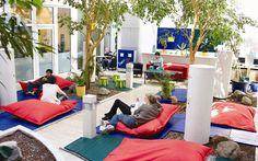 Wombats City Hostel Munich in Munich, Bayern, Germany Lounge Design, Cafe Design, Design Design, Office Space Design, Office Interior Design, Common Room, Common Area, City Furniture, Cheap Furniture