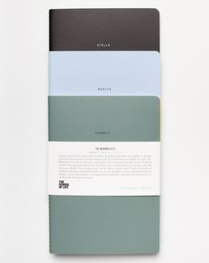 The School of Life Set of Three Minimalist Notebooks