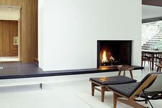Frameless Fireplaces That Make Minimalism Look Hot | California Home + Design