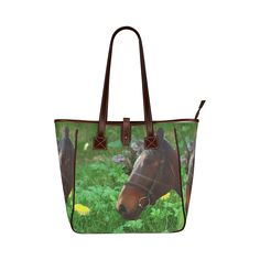 Horse and Grass Classic Tote Bag. FREE Shipping. #artsadd #bags #horses