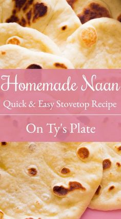 Naan Indian Flatbread-This Quick And Easy Stovetop Naan Recipe Is So Versatile That You Can Use It In Different Types Of Cuisines For Pizza, Wraps, Or For Dipping In Whatever Sauce Your Heart Desires. On Ty's Plate Bread Sandwich Recipe Indian, Sandwich Bread Recipes, Best Bread Recipe, Quick Bread Recipes, Muffin Recipes, Easy Recipes, Easy Cooking, Cooking Recipes, Stove Top Recipes