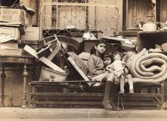 Children evicted from their home on E. 121st Street, New York, by Irving Haberman