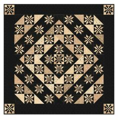 Black and cream quilt