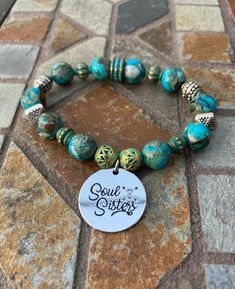 Excited to share this item from my #etsy shop: Soul Sisters Bracelet. Women's Jewelry. Friend Jewelry. Friendship Bracelet. Boho. Bohemian Jewelry #evileye #no #unisexadults #bohohippie #blue #silver #friendshipjewelry #friendshipbracelet #soulsisterbracelet Sister Bracelet, Friendship Jewelry, Friend Jewelry, Soul Sisters, Bohemian Jewelry, Hippie Boho, Turquoise Bracelet, Beaded Bracelets, Etsy Shop
