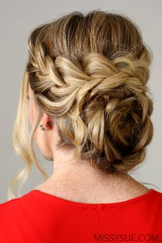 Flower Braid Updo {Try this winter}