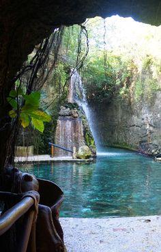 Underground river of Xcaret, Riviera Maya, Mexico