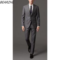classic suit men bridegroom suits gray custom made suit tuxedo for wedding 2017 dress fashion