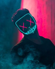 """Masque """"The Purge"""" Bright American Nightmare - Masques Lumineux, Casques LED bricolage Hacker Wallpaper, Screen Wallpaper, Mobile Wallpaper, Wallpaper Backgrounds, Iphone Wallpaper, Mascara Anime, Purge Mask, Smoke Photography, Joker Wallpapers"""