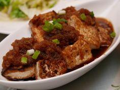 台式的煎豆腐,配上清甜的日式醬汁