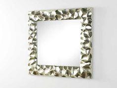 Espejo cuadrado en plata