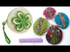 MONEDERO PETUNIA - YouTube Crochet Coin Purse, Crochet Purses, Crochet Diy, Bead Crochet, Pouch, Wallet, Crochet Handbags, Crochet Videos, Crochet Flowers