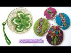 Mini Monedero REDONDO!!! TEJIDO A CROCHET **DIY Crochet MUY FACIL!!!! - YouTube