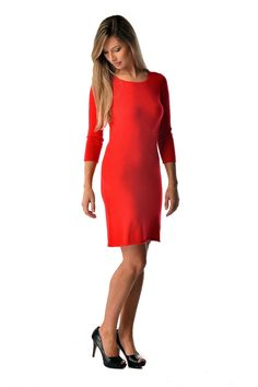 Pure #Cashmere #dress for women.NEED this dress to look red hot for your special date:goo.gl/sSdfUt